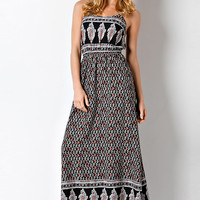 Bohemian Chic Spaghetti Strap Maxi Dress