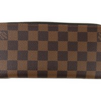 Authentic LOUIS VUITTON Zippy Wallet N61207 Damier Damier
