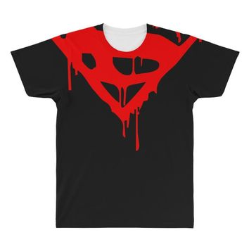 dripping blood superman All Over Men's T-shirt