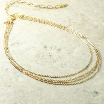 The Carmela Layered Necklace Gold