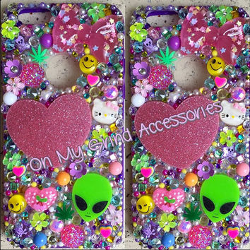 Phone Case-- iPhone 6-- Neon Kawaii Confetti in Purple
