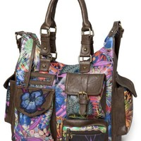Desigual Bols Moon Stellar Large Shoulder Bag 28X5030, Multicolor