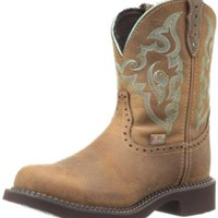 "Justin Boots Women's Gypsy Collection 8"" Boot with Perfed Saddle Vamp,Tan Jaguar,5 B US"