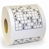 Creative Fun Sudoku Roll Tissue Toilet Paper
