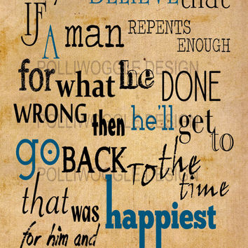 Do You Believe If A Man Repents... The Green Mile Movie Quote Poster, wall decor, typography, A3, A4, Modern Prints,