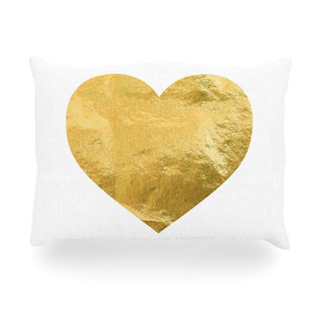 "KESS Original ""Heart of Gold"" Oblong Pillow"