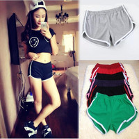 10 color American apparel Sport Shorts for women Jogging Running Shorts femme