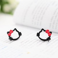 Lovely BowCat Stud Earring at online cheap fashion jewelry store Gofavor