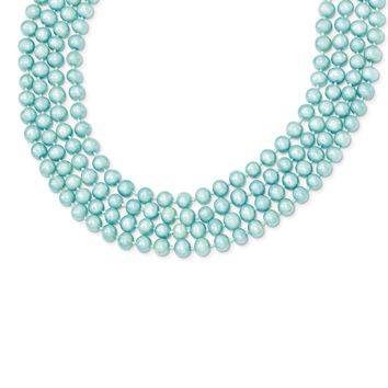 Cultured Blue Pearl Freshwater 5.5-6mm Single Strand Necklace 100 Inch Long
