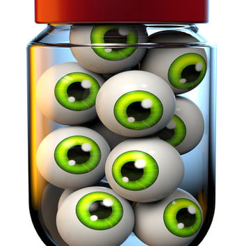 Eyeball Image, Jar of Eyeballs Image, Scary Halloween Image,Large Eye Art, Transparent Cutout, Wall Décor, Teen Room,Teen Décor, Home Décor