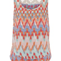 Multicolor Tiered Chiffon Tank - Multi