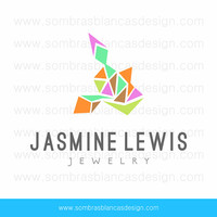 OOAK Premade Logo Design - Fluo Geometry - Perfect for a jewelry designer