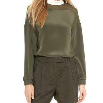 3.1 Phillip Lim Poet Top with Contrast Collar
