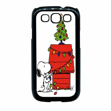 Snoopy Christmas Lights Tree Samsung Galaxy S3 Case
