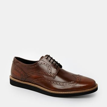 ASOS Brogue Shoes in Leather - Tan