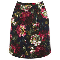 Buy Oasis Renaissance Rose Printed Skirt, Multi online at John Lewis