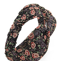 FOREVER 21 Knotted Floral Headwrap Black/Multi One