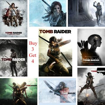 Tomb Raider Posters Game Wall Stickers White Coated Paper Prints  Home Decoration Livingroom Bedroom Bar Home Art Brand
