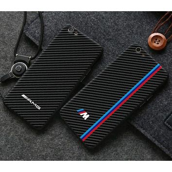 DCCKJ1A BMW carbon fiber phone case shell  for iphone 6/6s,iphone 6p/6splus,iphone 7/8,iphone 7p/8plus, iphonex