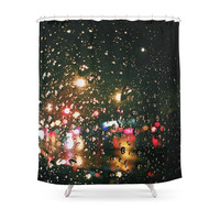 Society6 Rain Shower Curtain