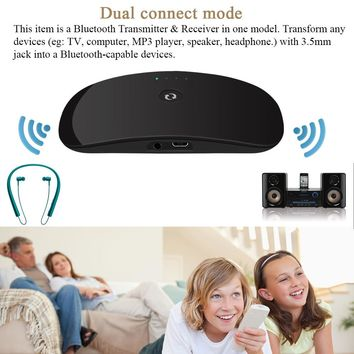 TechKara 2 in 1 bluetooth Audio Transmitter and Receiver for Headphone TV Computer Mp3 player