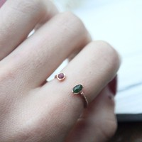 Emerald & Ruby Space Ring