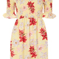 Lemon Floral Bardot Dress | Topshop