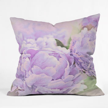 Lisa Argyropoulos Lavender Peonies Throw Pillow