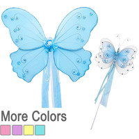 Butterfly Fairy Wing and Wand