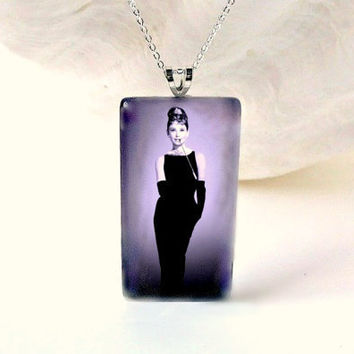 Audrey Hepburn Pendant Holly Golightly Necklace by FireGrog