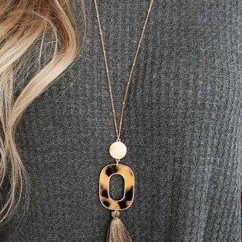 Get Carried Away Necklace: Gold/Multi