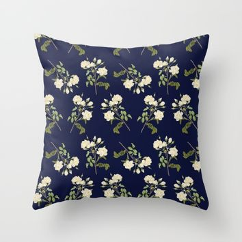 Floral Pattern I Throw Pillow by SagaciousDesign