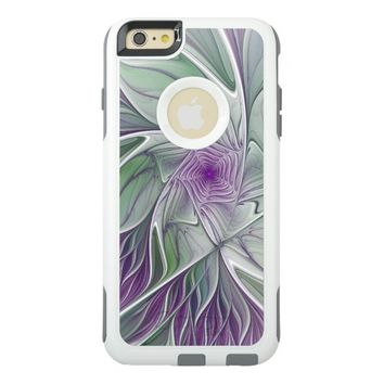 Flower Dream, Abstract Purple Green Fractal Art OtterBox iPhone 6/6s Plus Case