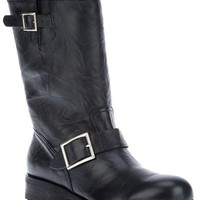 Jimmy Choo Buckled Biker Boot in Black