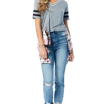 Frayed Lotta Ankle Cropped Jeans