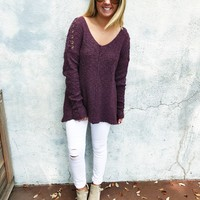 October Nights Sweater - Burgundy