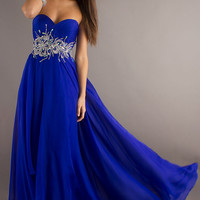 Long Strapless Prom Dress by Alyce Paris