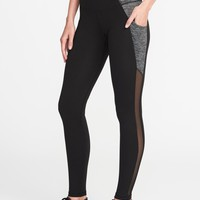 High-Rise Go-Dry Side-Pocket Compression Leggings for Women | Old Navy