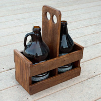 Beer Growler Carrier - Beer Caddy - Pallet Wood Growler Holder - Growler Holder - Home Brewing - Beer Gift - Gift For Him - Craft Beer Gift