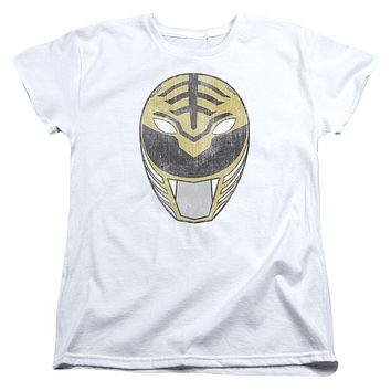 Womens Power Rangers/White Ranger Mask Tee Shirt