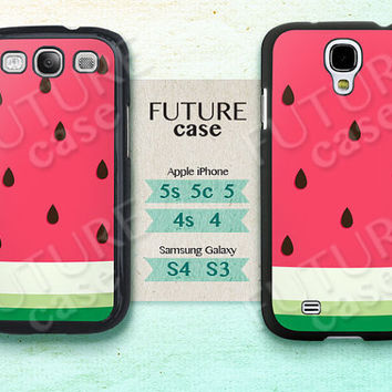 Samsung Galaxy S4 Case Watermelon Cute Funny Samsung Phone Case Samsugn Galaxy S3 S4 Skin Case Cover Hard or Soft Case
