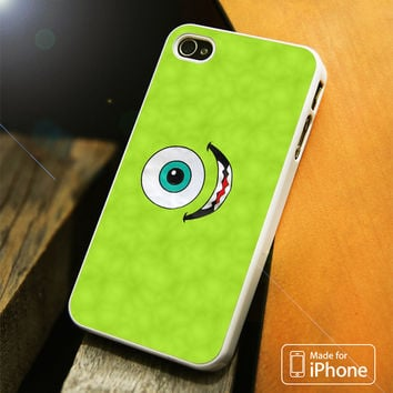 Disney Mike Wazowski Monster Inc Smile iPhone 4(S),5(S),5C,SE,6(S),6(S) Plus Case
