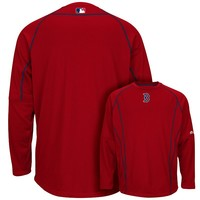 Majestic Boston Red Sox On-Field Practice Therma Base Fleece Pullover