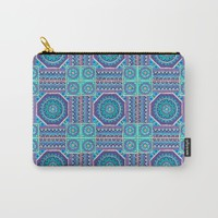 Mandala Tiles Carry-All Pouch by Sarah Oelerich