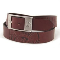 New York Yankees MLB Men's Embossed Leather Belt (Size 42)