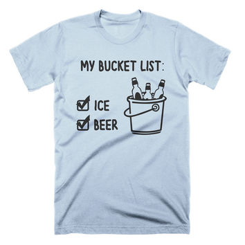 Funny Beer Shirt Bucket List T Shirt Funny Beer Tees Beach Shirt Party T-Shirt