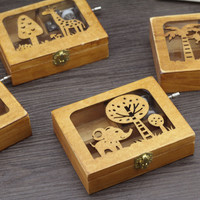 Animal Hollow Out Storage Music Creative Gifts Box [6282789702]