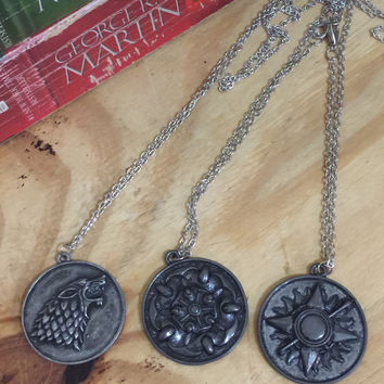 Game of Thrones House Sigil Necklaces