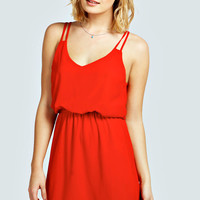 Anais Double Strap Slip Skater Dress