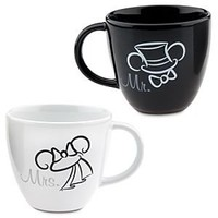 Wedding Minnie and Mickey Mouse Mugs -- 2-Pc. | Disney Store